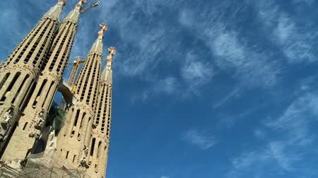 Барселона : Beautiful building of  Sagrada Familia church, Barcelona, Spain