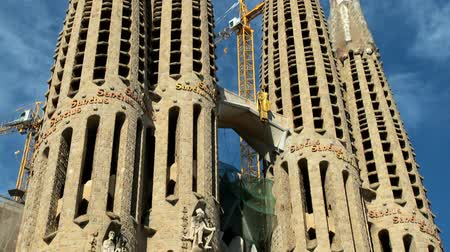 Барселона : Towering spires of the Sagrada Familia church, Barcelona, Spain