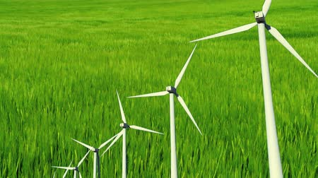 környezeti : Green grass field, wind turbine & and clean environmental image