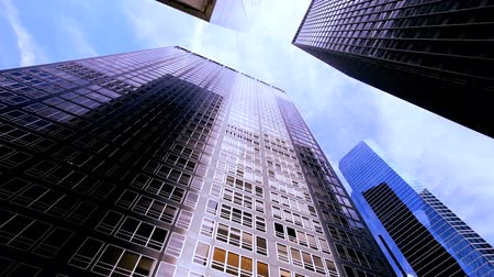 pénzügyi negyed : High-angle view of skyscrapers in the financial district of USA
