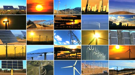 энергия ветра : Montage of multiple images showing wind & solar power producing environmentally clean & sustainable energy