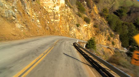 enrolamento : Timelapse point-of-view driving the Pacific coast highway