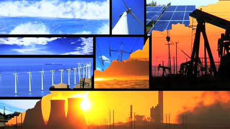 sluneční : Montage of moving images of choice between fossil fuel & renewable energy  Dostupné videozáznamy