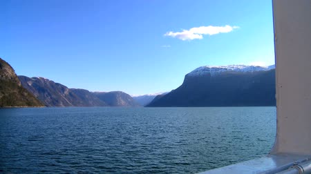 enriching : Aboard a large boat on the crystal waters of a glacial fjord