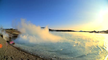 ЖК : Steam coming from hot volcanic springs bubbling to the surface 60 FPS