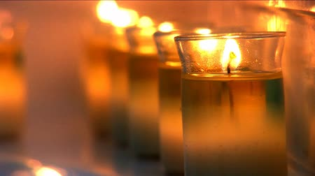 aromaterapia : Aromatherapy candles burning at health & beauty spa
