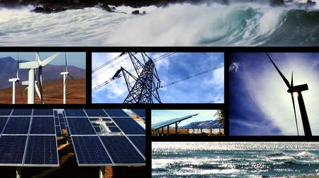 vento : Collection of clean energy images in a motion montage Vídeos