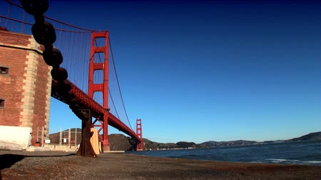 tower bridge : Tower & metal structure of San Franciscos Golden Gate Bridge