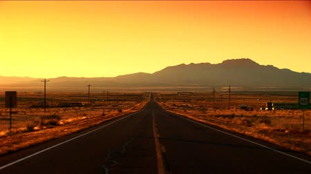 straight road : Long straight road in Arizona, USA at sunrise