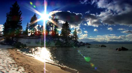 göl : Scenes of winter & snow from the shores of Lake Tahoe