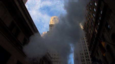 bronx : Steam on the streets of New York financial district, USA Stock Footage