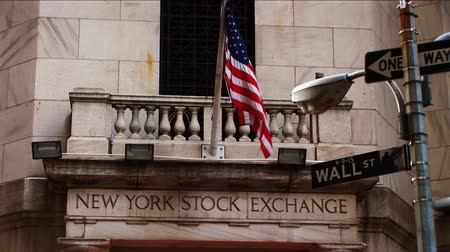 zeď : Wall Street Stock Exchange, New York, USA Dostupné videozáznamy