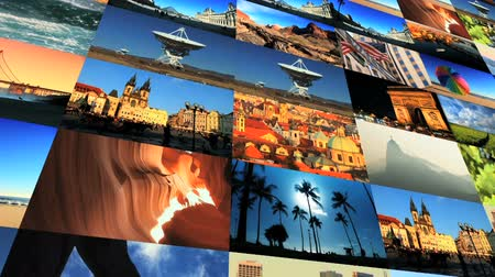 brochura : Collage collection of picture postcard shots from around the world