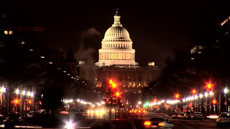 kopec : A visitors view of the White House & Washington DC illuminated at night - fast zoom