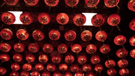 lunar new year : Chinese lantern, for celebrate Chinese New Year Stock Footage