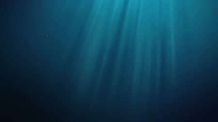 seamless loop underwater scene with rays of light