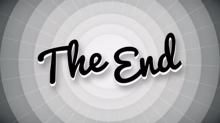 konec : The end typography old movie animation title screen. full hd.