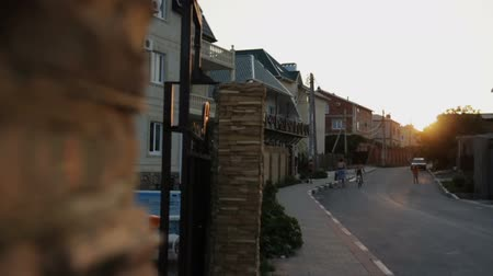 parke taşı : Countryside Street at Sunset