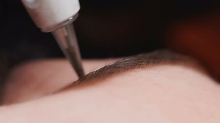 Close up of Permanent Makeup.