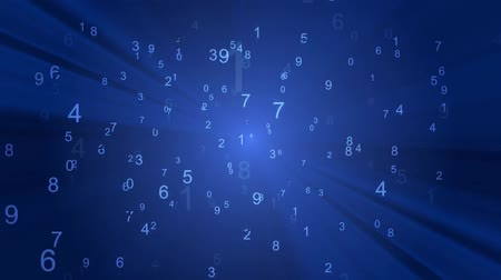 numerology : Running stream of numerical digits in the virtual space.