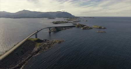 wilderness : Aerial shot over Atlantic Road - famous driving route in Norway