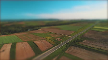 dokonalost : Aerial view moves lower from ethereal sky to beautiful yards and colorful fields.. Dostupné videozáznamy