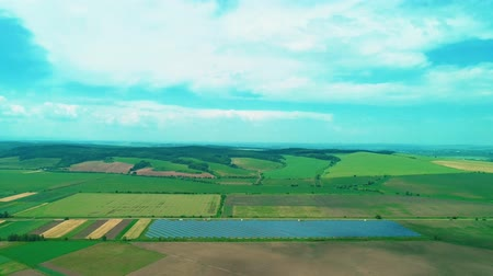 preservação : Agriculture is combined with new technology. Solar batteries are among wide fields. 4K.