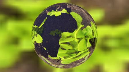 sembol : Ecology environment design concept, glass globe in the green grass.