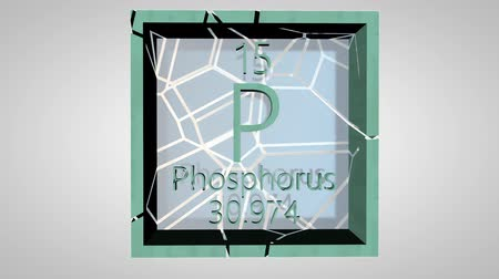 pólos : Phosphorus. Element of the periodic table of the Mendeleev system. IUPAC version is dated 28 November 2016. Standard atomic weight. 3D animation alpha PNG.