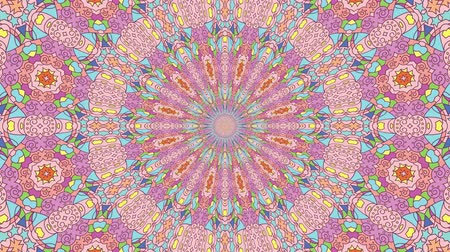 dizi : Colorful looping kaleidoscope sequence. Abstract motion graphics background.
