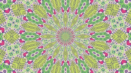 Colorful looping kaleidoscope sequence. Abstract motion graphics background.