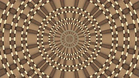 round ornament : Wicker pattern. Colorful looping kaleidoscope sequence. Abstract motion graphics background. Stock Footage