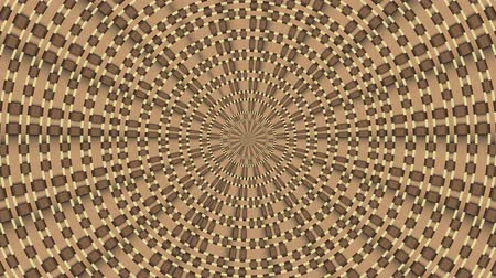 Wicker pattern. Colorful looping kaleidoscope sequence. Abstract motion graphics background. Стоковые видеозаписи