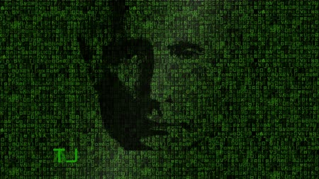 matris : Putins Face Over Matrix Style Background