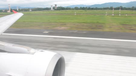 Aircraft or Airplane is Taking Off from Runway Stock Footage