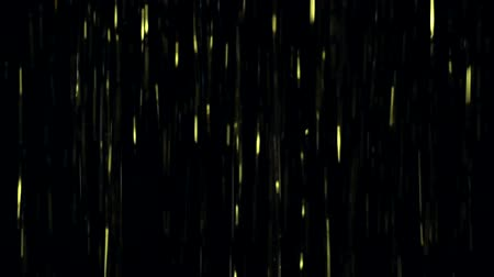 neve : Gold glitter rain fall down on black background. Footage or video for intro or outro design in hi resolution 4k 3840x2160. Footage in modern or technology style. Stock Footage