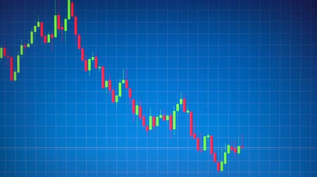 resolution : Stock graph or candlestick Forex chart moving on blue bg with table line. Business concept about financial, investment, risk, money trading. Hi resolution footage 4k 3840x2160 Stock Footage