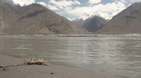 pamirs : Beautiful landscape in Tajikistan. Stock Footage