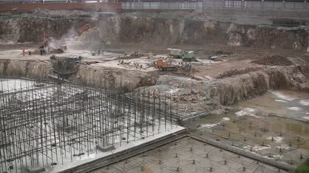 deconstruction : Overview of a construction site in China