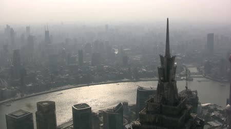yangtze : The skyline of Shanghai.
