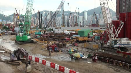 экономика : Building site in Hong Kong.
