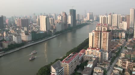 perla : Horizonte de Guangzhou. Archivo de Video