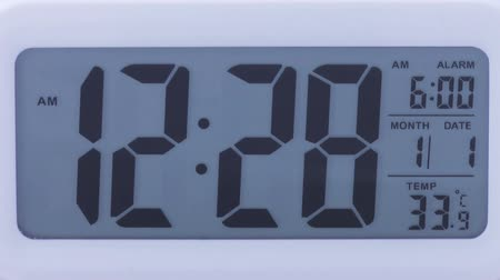 clock hands : Digital clock time lapse