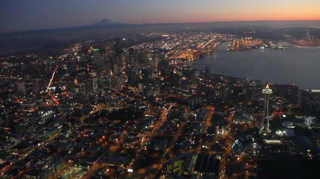 Multiple high-definition clips of downtown Seattle and the Space Needle 影像素材