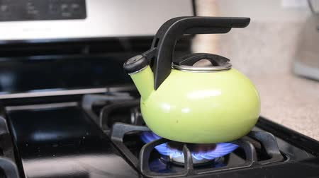 heating up metal : Tea kettle boils on gas stove