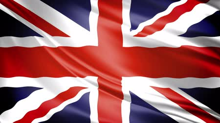 zvedák : United Kingdom Flag: UKs Union Jack waving