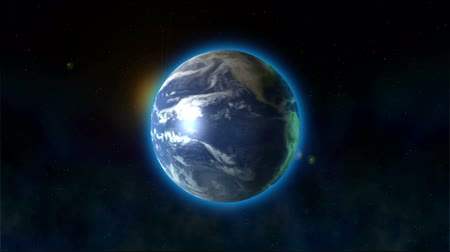 mekik : Earths rotation: the blue planet rotates in space