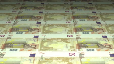 Money printing: 50 euros banknotes being printed. Seamlessly loopable Dostupné videozáznamy