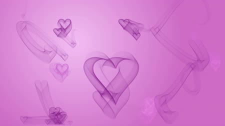 Hearts moving on pink background. Seamlessly loopable. Computer generated image