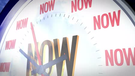 Future is now. A clock marking the word Now in different positions Dostupné videozáznamy